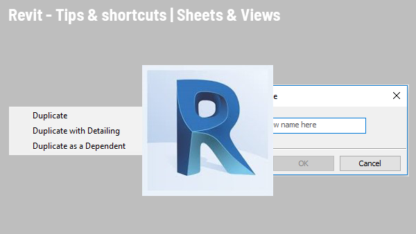 Header revit sheets views