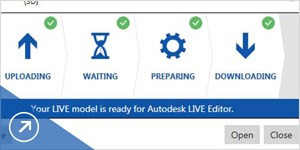 Revit model live ready for editor