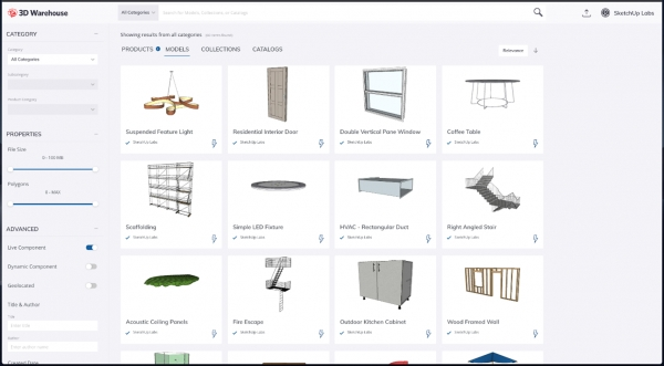 SketchUp object: Live Components