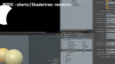 MODO shorts Shader Tree renderen